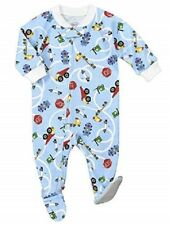 2 Sara's Prints Baby Boys Soft Footed Pajamas  9 Month Vrmm - vrm Cover - All