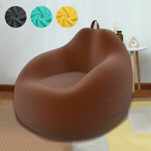Large Small Lazy Sofas Cover Chairs Without Filler Linen Cloth Lounger Seat Bag