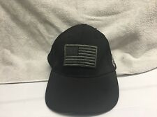 New listing Nwt Voodoo Tactical Black Classic Cap Hat w/ Removable Usa Flag Patch