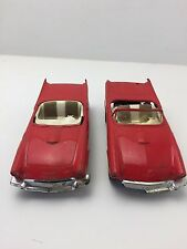 2 AMT 1957 Ford T-Bird Convertible Promo Model Cars For Parts or Repair (C) (I4)
