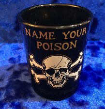 "Key West ""Name Your Poison"" Skull Shooter Glass"