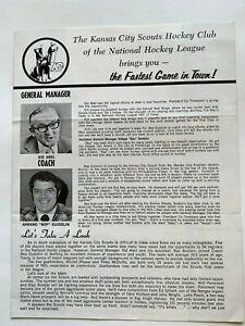 1974 Kansas City Scouts (NHL) newsletter