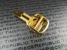 18mm 16mm 12mm Inoxydable Boucle Déployante Pliant Fermoire Cartier Jaune Or