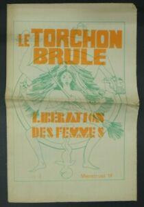 Le Torchon Brûle n°4 Menstruel Féminisme 68 MLF s.d.