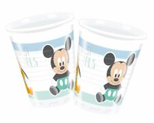 8pk Infant Mickey Plastic Cups 200ml Birthday Party Baby Shower Tableware