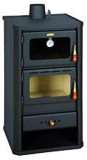 Stufe / Stufa a legna in acciaio Mod. Firenze con forno colore antracite