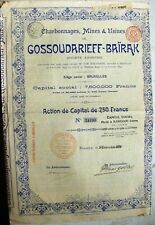 Russian-Belgium 250 Fr bond Coal Industries & Mines of Gosudareff-Bairak 1899