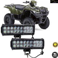 2x 9''inch 54W LED Work Light Bar Combo For Polaris Honda Yamaha Can-Am Suzuki