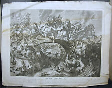 Battle of the Amazons aft d'ap Rubens Bataille des amazones c 1750 G Duchange sc