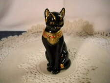 Vintage Lenox 1995 Bastet The Egyptian Black Cat Porcelain 24K Gold Figurine