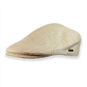 Woven Raffia Straw Newsboy Hat Ivy Cap Golf Flat Cabbie Driving S M L XL