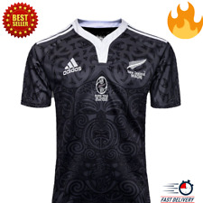 NEW ZEALAND ALL BLACKS 2019/2020 100 ans Rugby Jersey Home Maillot Neuf New