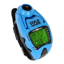 NEW Pyle Wind Speed Meter, W/ Wind Chill Temp. Altimeter/Barometer, Yacht (Blue)