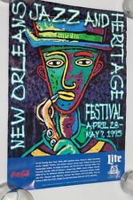 April 28 1995 New Orleans Jazz & Heritage Philip Bascle Festival Poster