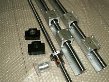 SBR16-600mm 2pc linear rail+ballscrew RM1605-600mm+1 set BK/BF12 end bearing CNC