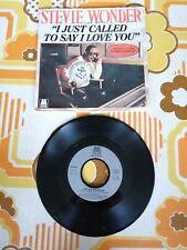 ancien vinyle 45 tours VINTAGE STEVIE WONDER i just called to say i love you
