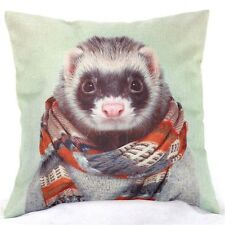 Home Decor Office Cotton Linen Ferret Scarf Man Cushion Cover Pillow Sofa 45cm