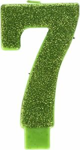 LARGE 7th Birthday Candle Cake Topper Number 7 Party Age Decor Bday Decoration