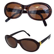 d2167d3d9019 Auth Must de Cartier Logos Sunglasses Eye Wear Plastic Metal Leopard 30B1008