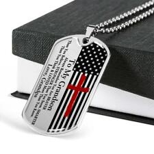 To My Grandson Love Gift Military Dog Tag Necklace You Braver Than You Believe