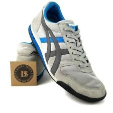 Asics Onitsuka Tiger Mens Shoes HN201 Gray Blue Casual Sneakers 8