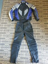BELSTAFF MOTORCYCLE LEATHER JACKET AND TROUSERS SIZE 46.
