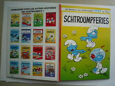 1994 SCHTROUMPFERIES  DOS CARRE DE PEYO