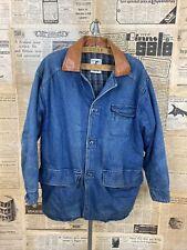 Head boy made in England men's vintage jeans denim winter jacket size L