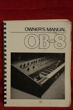 original 1982 OBERHEIM OB-8 synthesizer OWNER's MANUAL first edition