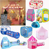 Indoor/Outdoor Playhouse Pop Up Play Tent Kids Children Party Game Tent Tunnel