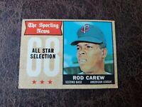 (1) 1968 Topps Baseball Rod Carew All-Star #363 - Minnesota Twins Legend