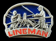 Lineman Workers Electrician Telephone Cable Belt Buckle Boucle de Ceinture