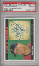 Jonathon Papelbon 2005 Bowman Heritage Sign of Greatness auto card PSA graded 9
