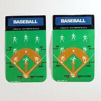 Lot of 2 Vintage 1979 Mattel Intellivision Baseball Controller Overlays