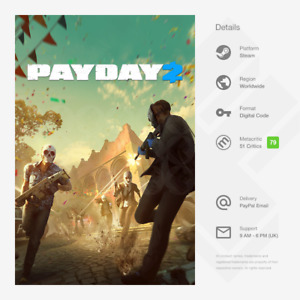 PAYDAY 2 (PC / LINUX) - Steam Key [GLOBAL, MULTI-LANG]
