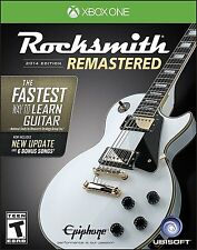 NEW Rocksmith 2014 Edition Remastered (Microsoft Xbox One, 2016) No Cable