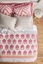 New Anthropologie TAMTERGA King Duvet Cover Boho French Country Globe Trotter