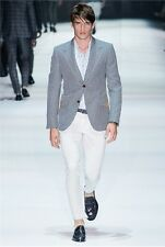 Gucci Runway RIDING Wool-Mohair-Cotton Checked Blazer Jacket 46 IT LEE JIN WOOK