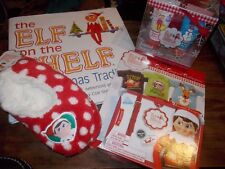 Elf On The Shelf Book, Shower Gift Set, Slipper & Claus Couture Tin/3 Shirts Lot