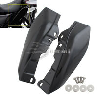 Black Mid-Frame Air Deflectors For Harley Touring Road King Tri Glide 09-up L &R