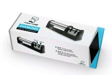 New Knife Serrate Sharpener Chef Sharpening Tool 2 Stage Diamond Wheel System