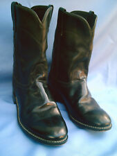 LAREDO Men's Black Western Cowboy Boots Size 10D Leather Vamp Fox Front + Other!