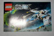 LEGO GALAXY SQUAD 70701 MANUAL ONLY