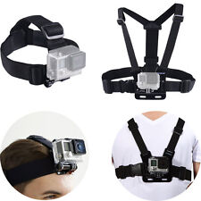 Harness Head+Chest Strap Belt Mount Accessories for GoPro Hero 5 4 3+ 3 2 Camera