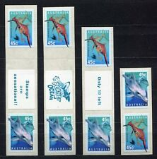 40408) AUSTRALIA 1995 MNH** Underwater world 8v s-a.different labels and perf.