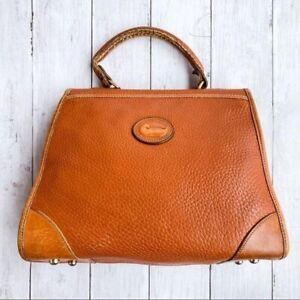 Vintage Dooney & Bourke British Tan Medium Carpet Bag