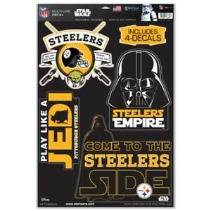 PITTSBURGH STEELERS STAR WARS YODA & VADER LAPTOP MULTI USE REUSABLE DECALS NEW