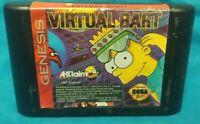 Virtual Bart Sega Genesis Game Working Tested Rare Authentic Original Simpsons
