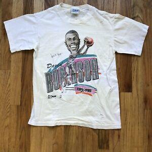 Men's Vintage Salem San Antonio Spurs David Robinson Caricature T Shirt Tee Sz M