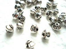 50 TIBETAN SILVER BICONE SPACER BEADS 5mm Jewellery making findings